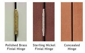 Finial Hinge: A Hinging Option Used With Inset Cabinetry, Which Is  Decorative And Semi Concealed.